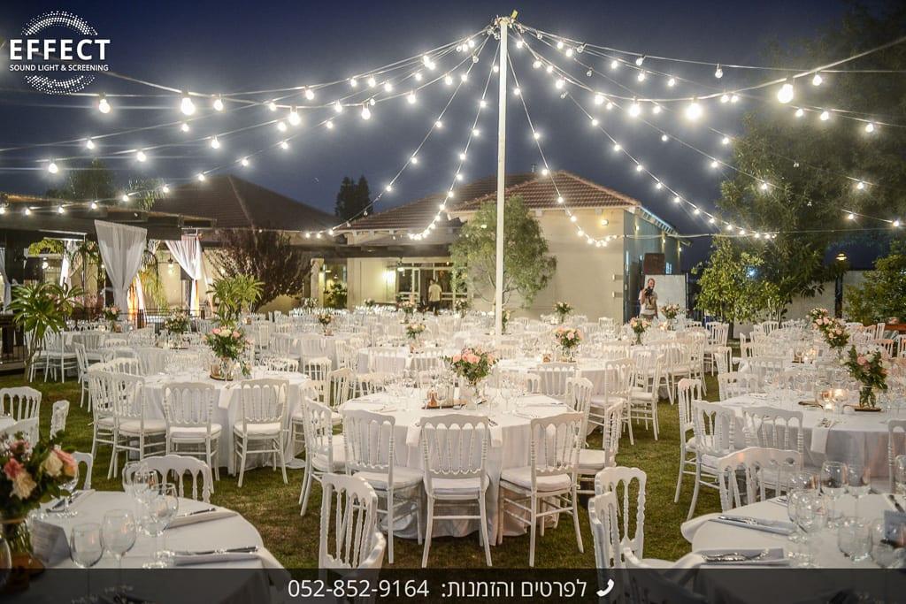 תאורה לחתונה